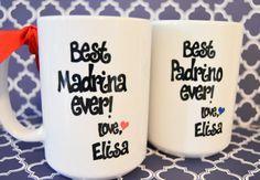 Spanish Godparent MADRINA or PADRINO Mugs by BabyCakeLane on Etsy