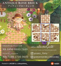 Petunias, Motif Acnl, Ac New Leaf, Animal Crossing Guide, Path Design, Motifs Animal, Animal Games, Antique Roses, Nintendo Switch