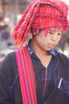 Pa-o woman, Inle lake Myanmar