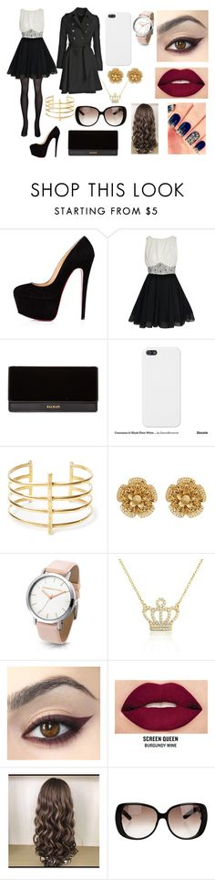 """""""#146"""" by julie-somerhalder-evans ❤ liked on Polyvore featuring Boohoo, Balmain, BauXo, Miriam Haskell, Bling Jewelry, Smashbox and Gucci"""