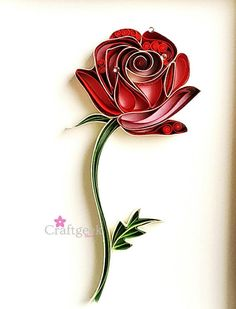 Rose Art Valentine's Day Gift Single Red Rose Art