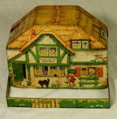 "RARE Antique MacFarlane Lang""The House That Jack Built"" Biscuits Tin C1936 | eBay"