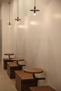 큐플레이스 :: 상가 인테리어 비교견적 서비스 Cafe Shop Design, Coffee Shop Interior Design, Restaurant Interior Design, Shop Front Design, Cafe Chairs And Tables, Cafeteria Design, Simple Cafe, Cafe Seating, Retro Cafe