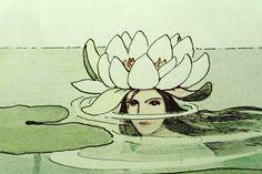 Elsa Beskow. Dronning Vannlilje. (Queen Water Lily). 1914.  [detail]