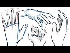How to Draw HANDS and HAND POSES! - YouTube      ///This video helped me so much. Ive never drawn hands in my life and I actually drew some hands that look amazing. So, if you have trouble with hands WATCH THIS//