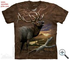 Elk Shirt Tie Dye At Dusk T-shirt Adult Tee Wildlife Shirts Animal T-Shirts Tee Available in Small, Medium, Large, XL, & Officially Licensed Cool T Shirts, Tee Shirts, Tees, Bow Hunting Deer, Polo, Mountain Man, Mountain Sunset, Fishing T Shirts, Tye Dye