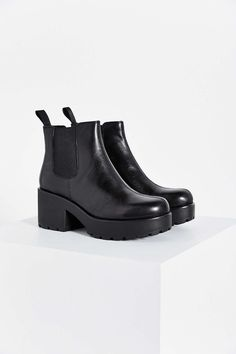 A pair of black combat boots to take on the day...