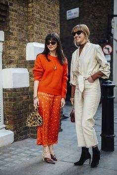 London Fashion Week Street Style Fall 2018 Day 2 - The Impression European Street Style, Street Style Chic, Autumn Street Style, Cool Street Fashion, Street Style Looks, European Fashion, London Fashion Weeks, Fashion Week Paris, Fashion Now