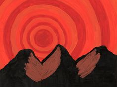 https://flic.kr/p/GGjJCT | Mountain Vortex  By Sherrie D. Larch | This artwork was inspired by the spirituality and mysticism of Mount Shasta in Northern California and her beautiful sunsets.  My Facebook Artist Page: www.facebook.com/sherriedlarch/