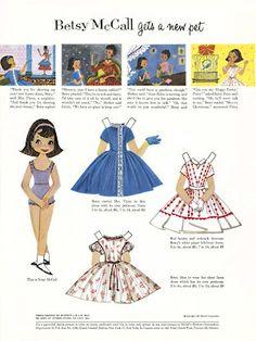 Bonecas de Papel: Betsy McCall gets a new pet, 1957