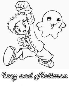 Digimon Tegninger til Farvelægning. Printbare Farvelægning for børn. Tegninger til udskriv og farve nº 38