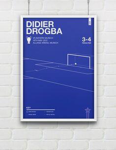 Didier Drogba vs Bayern Munich Giclee Print A2 / A3