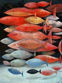 """Christopher Dotson – """"School of Mostly Red Fish"""""""