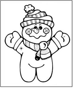 Printable Snowman Coloring Page More