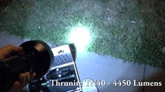 Thrunite TN40 vs Jetbeam RRT3 - Flashlight Beamshot Battle