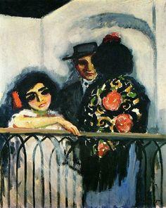 """chorisarautrui:  """"""""Le balcon"""" Peinture de l'artiste néerlandais Kees Van Dongen -1910-  """""""