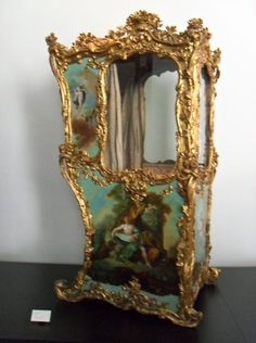 Sedan Chair, ornate.