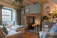 25 beautiful homes magazine. this is our gorgeous holiday rental cottage near whitby. Cottage Living Room Small, Small Cottage Interiors, Living Room Decor Cozy, Small Living Rooms, My Living Room, Cozy Living Room Warm, Modern Cottage Decor, Cozy Cottage, Modern Living