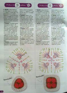 "Photo from album ""Tejido Practico Crochet: Amigurumi on Yandex. Crochet Diagram, Crochet Motif, Crochet Flowers, Crochet Patterns, Crochet Hippo, Crochet Dolls, African Flower Crochet Animals, Crochet Squares, Crochet Home"