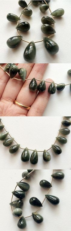 Cats Eye Quartz 69163: 8 Strand Cats Eye Stone, Plain Tear Drops Beads, Chrysoberyl, Cats Eye Necklace -> BUY IT NOW ONLY: $51.37 on eBay!