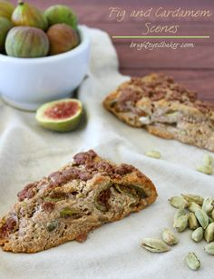 The perfect recipe for fig season and all the fig lovers out there!    Fig and Cardamom Scones from Confessions of a Bright-Eyed Baker