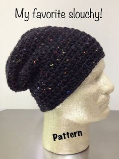 Slouchy Beanie Pattern on Etsy, $5.00