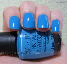 """New Mani for my trip to Vegas! The color is """"No Room for the Blues"""""""