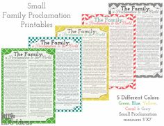 Little LDS Ideas: {Printables} The Family: A Proclamation to the World