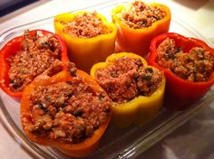 Paleo Stuffed Peppers. These were dinner tonight and were yummy!