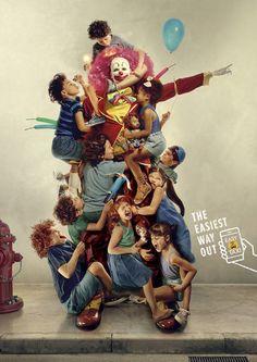 easy-taxi-easy-taxi-wrestling-clown-postman-print-389275-adeevee