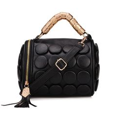 Fashion Punk Style Buttons Women Bucket Bag Black Cross Body Bag  Worldwide delivery. Original best quality product for 70% of it's real price. Hurry up, buying it is extra profitable, because we have good production sources. 1 day products dispatch from warehouse. Fast & reliable...