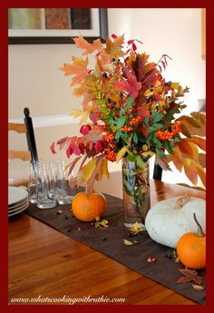 Fall Centerpiece by whatscookingwithruthie.com