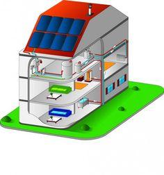 Résidence du Regard, Mennecy - L'exemple vertueux d'un dispositif dans lequel les panneaux solaires permettent de produire 30 % de l'eau chaude sanitaire pour130 logements.