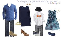 Coordinating Family Photo Outfits for Fall: great sight for styling family pictures