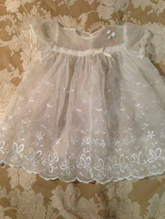 Vintage baby christening dress