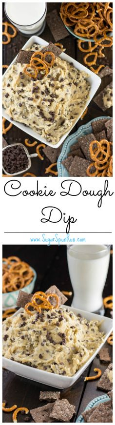 Easy delicious cookie dough dip (no egg) --Finally a dip recipe made without cream cheese!!