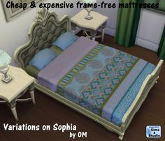 The Sims 4 | frame free double mattress variations for bed frames | buy mod new objects bed room