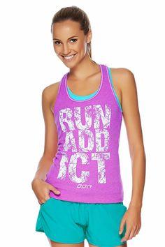 Run Addict Tank | Inspirational Tanks | Styles | Styles | Shop | Categories | Lorna Jane US Site