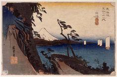 Yui, le col de Satta par Utagawa Hiroshige  ©RMN-Grand Palais /musée Guimet, Paris