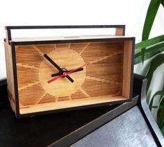 beautiful, simple, perfect! - Bamboo Desk Clock via Etsy