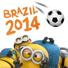 The Minions love soccer too! FIFA 2014 World Cup Brazil!!!