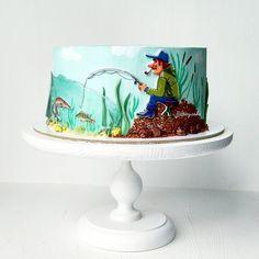 203 отметок «Нравится», 25 комментариев — Торты на заказ Челябинск (@spicy.cake) в Instagram: «#тортдлярыбака в моём воображении случился таким забавным и добрым! А эти рыбки в карамельном…»