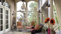 enclosed porch with hurricane shutters