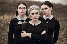 """esfriertmich: """" Halloween photoshoot October, 2015 Many thanks to my precious Zo for makeup, Nastya for hairstyle and beautiful girls for patience) """""""