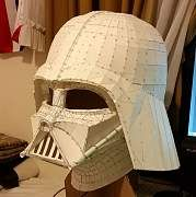 This Star Wars papercraft is a life size Darth Vader helmet, created by Joey Juvito. The size of finished model is about 380 (H) x 333 (W) x 374 (D) mm. Yo Source by mildredhuerta Dresses Star Wars Helmet, Vader Helmet, Star Wars Sith, Cardboard Sculpture, Cardboard Art, Darth Vader Helm, Costume Star Wars, Darth Vader Costumes, Darth Vader Cosplay