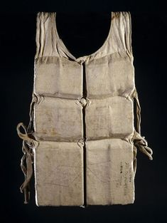 "usagov: "" Image description: A life vest used by a survivor of the RMS Titanic. Five days into its maiden voyage in the White Star ocean liner Titanic struck an iceberg at full speed in the. Rms Titanic, Titanic History, Titanic Wreck, Titanic Sinking, Titanic Ship, Titanic Artifacts, Historical Artifacts, Ancient Artifacts, Southampton"