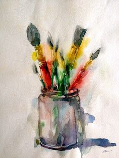 Brushes by Alan David (For The Love Of Art) Impressive Watercolour!!