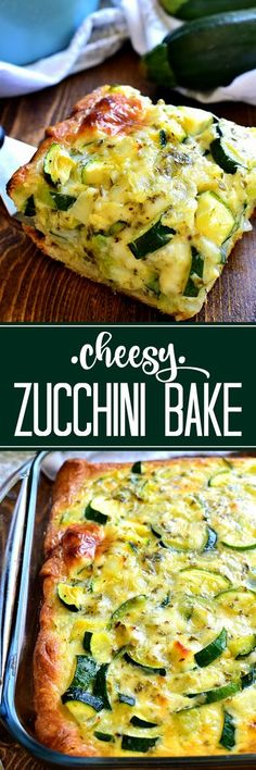 This cheesy Zucchini Bake is one of my favorite ways to use zucchini! Delicious … This cheesy Zucchini Bake is one of my favorite ways to use zucchini! Delicious for breakfast, lunch, or dinner…and so easy to make! Zuchinni Recipes, Vegetable Recipes, Vegetarian Recipes, Cooking Recipes, Healthy Recipes, Budget Cooking, Diet Recipes, Baked Zucchini Recipe, Easy Recipes