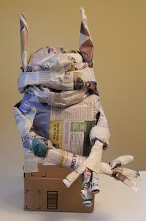 What Happens at Grandma's: Paper Mache Monster Instructions