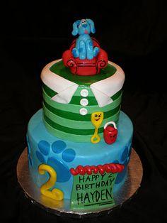 Sweet Treats by Jennifer Yeomans Christy, LLC: Blues Clues Birthday Cake Blue Birthday, 4th Birthday Parties, Birthday Fun, Birthday Ideas, Birthday Cakes, Clue Party, Party Party, Cookie Favors, Dessert Buffet